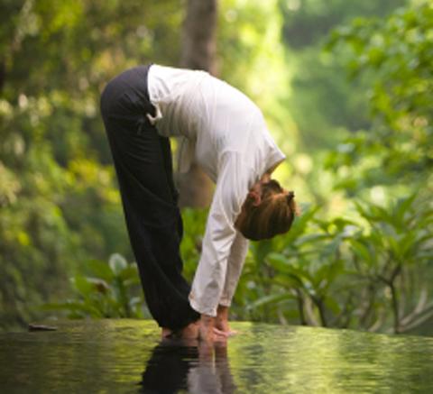 Yoga forward fold alignment & anatomy