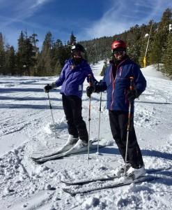 Bluebird ski day in Colorado